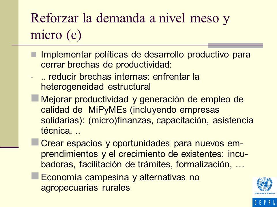 Implementar políticas de desarrollo productivo para cerrar brechas de productividad: -..