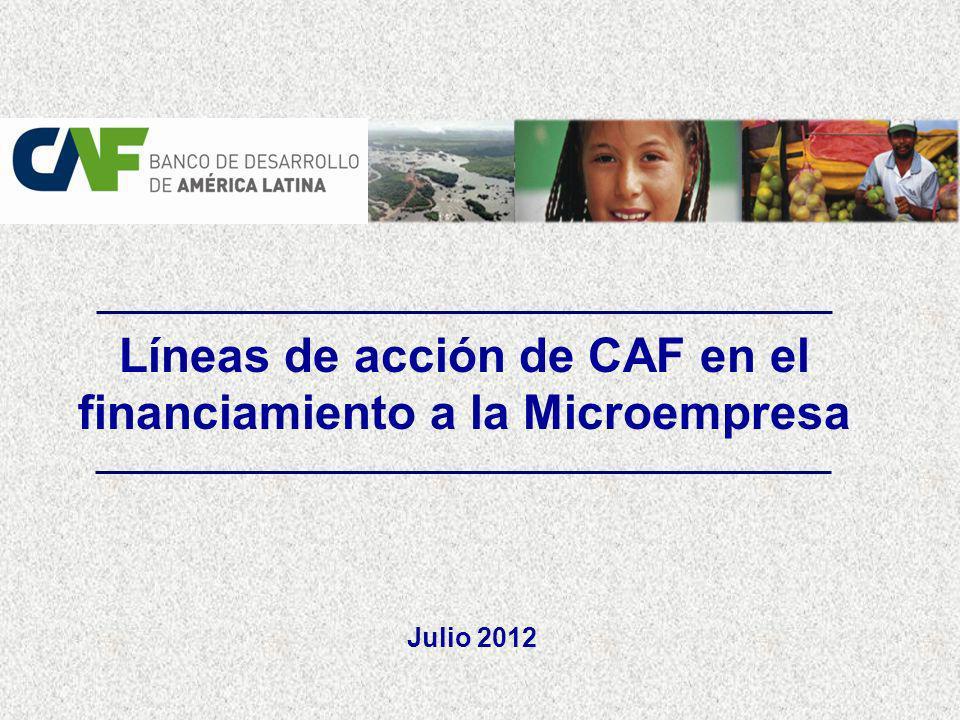 CAF ACCIÓN DE CAF EN LA ATENCIÓN A LA MICROEMPRESA AGENDA