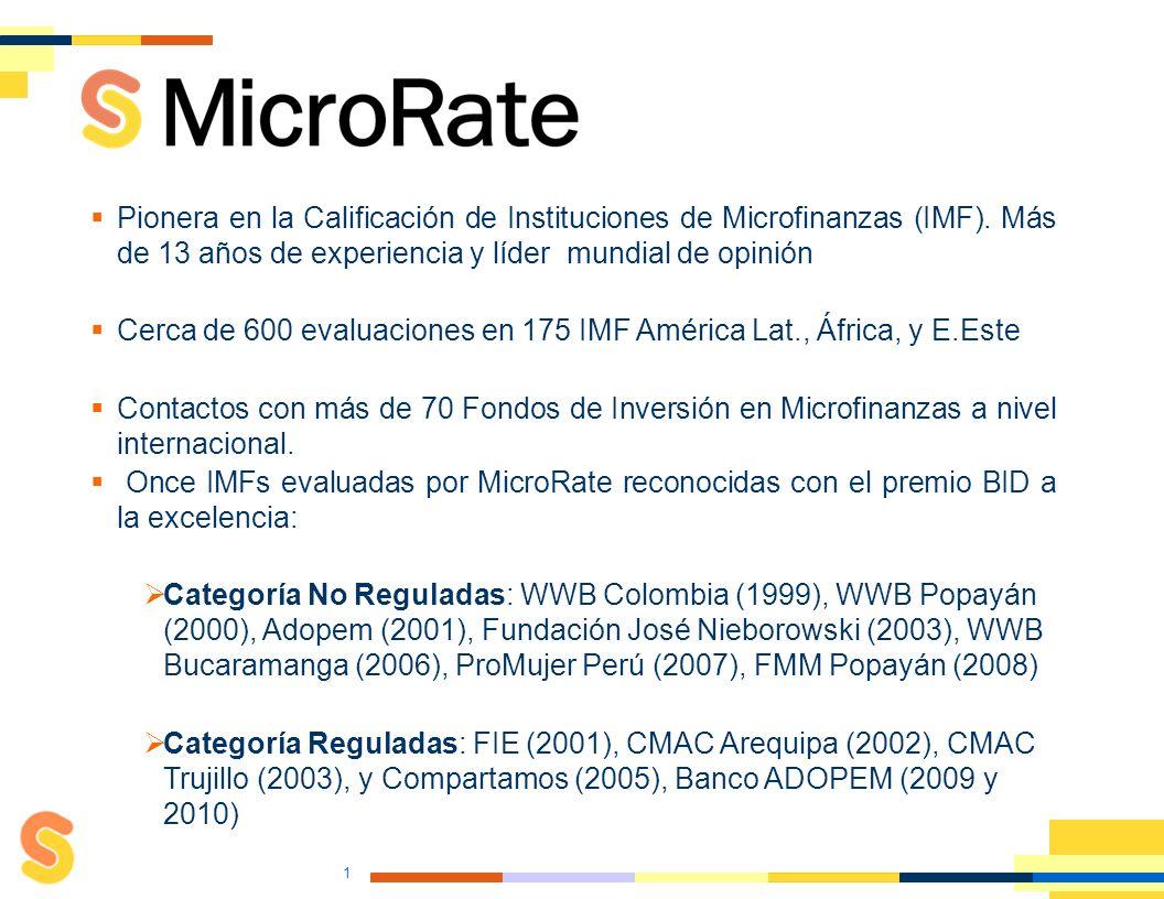 Calificación Especializada en Microfinanzas 2011