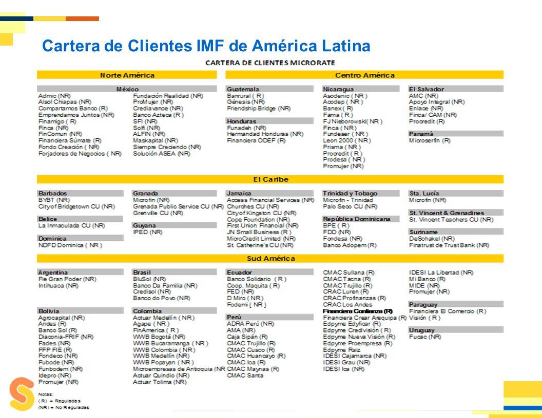1 Pionera en la Calificación de Instituciones de Microfinanzas (IMF).