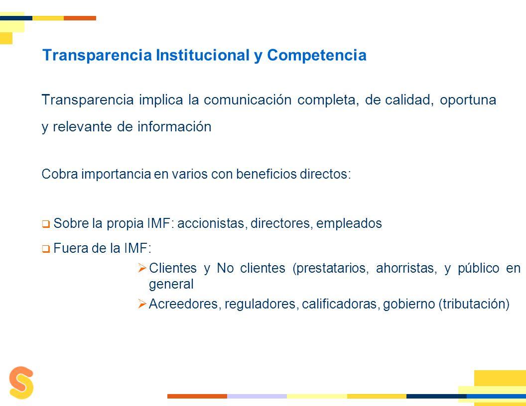 Transparencia Institucional y Competencia: Bases de un Sistema Sano 2011