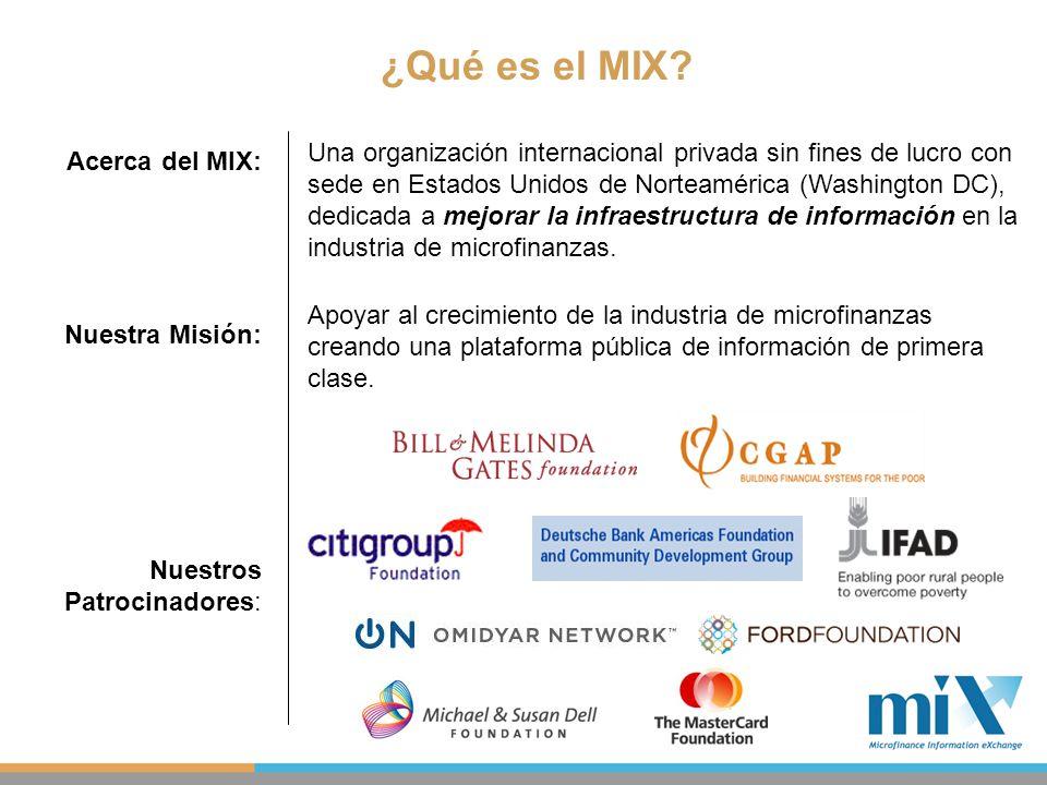 ¿Qué es el MIX? Una organización internacional privada sin fines de lucro con sede en Estados Unidos de Norteamérica (Washington DC), dedicada a mejor
