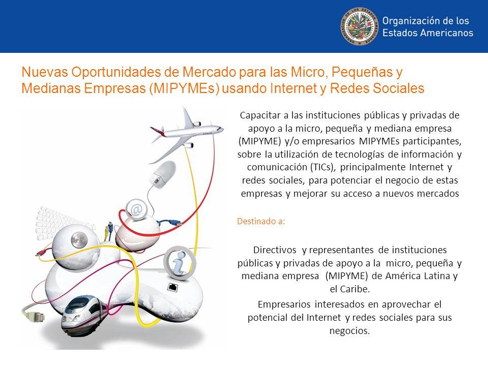 Capacitar a las instituciones públicas y privadas de apoyo a la micro, pequeña y mediana empresa (MIPYME) y/o empresarios MIPYMEs participantes, sobre