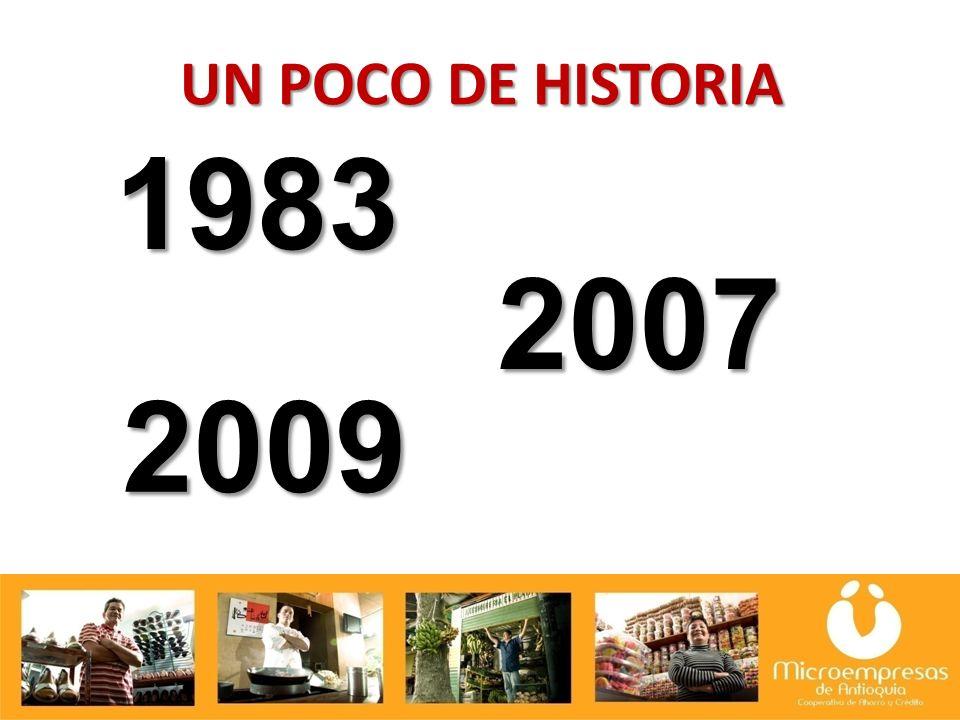 UN POCO DE HISTORIA 1983 2007 2009