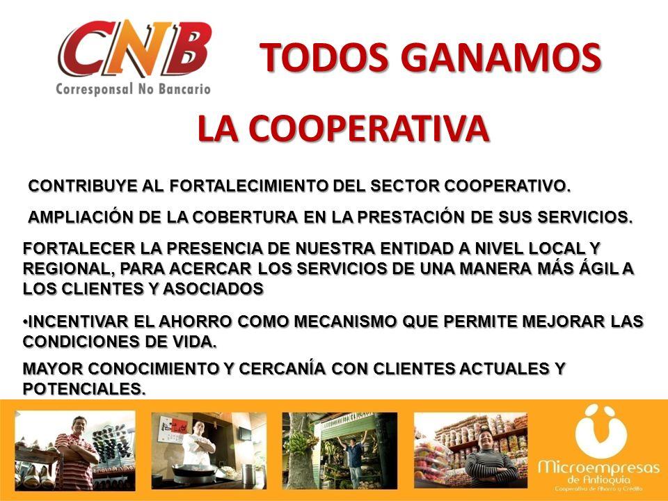 LA COOPERATIVA TODOS GANAMOS CONTRIBUYE AL FORTALECIMIENTO DEL SECTOR COOPERATIVO.