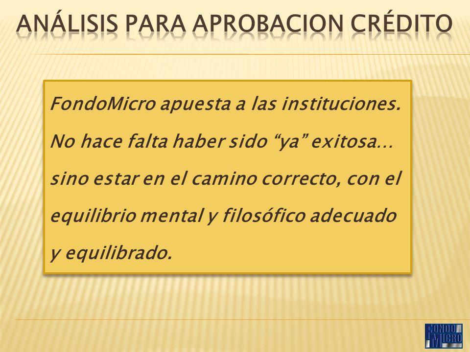FondoMicro apuesta a las instituciones.