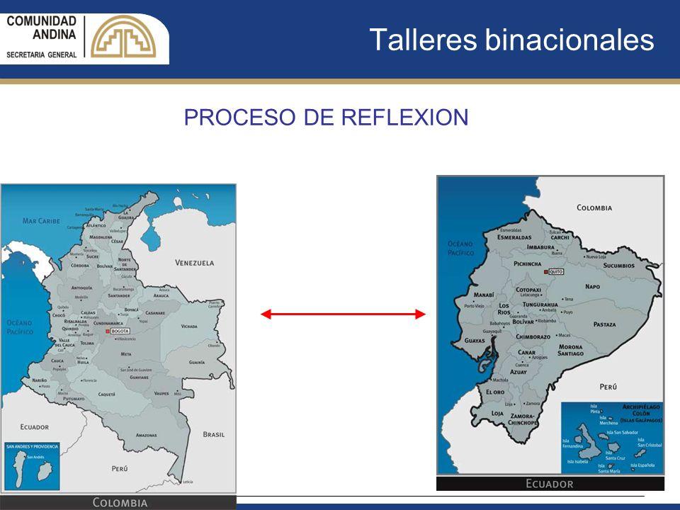 Talleres binacionales PROCESO DE REFLEXION