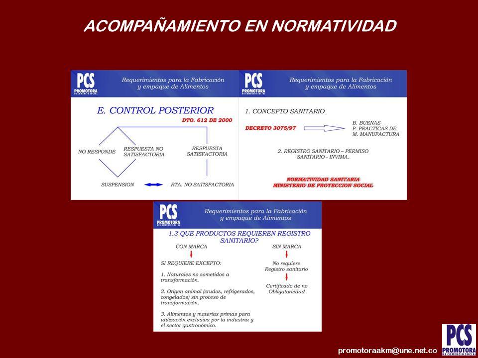 ACOMPAÑAMIENTO EN NORMATIVIDAD promotoraakm@une.net.co