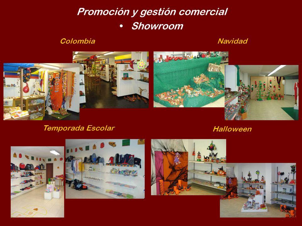 Promoción y gestión comercial Showroom ColombiaNavidad Temporada Escolar Halloween