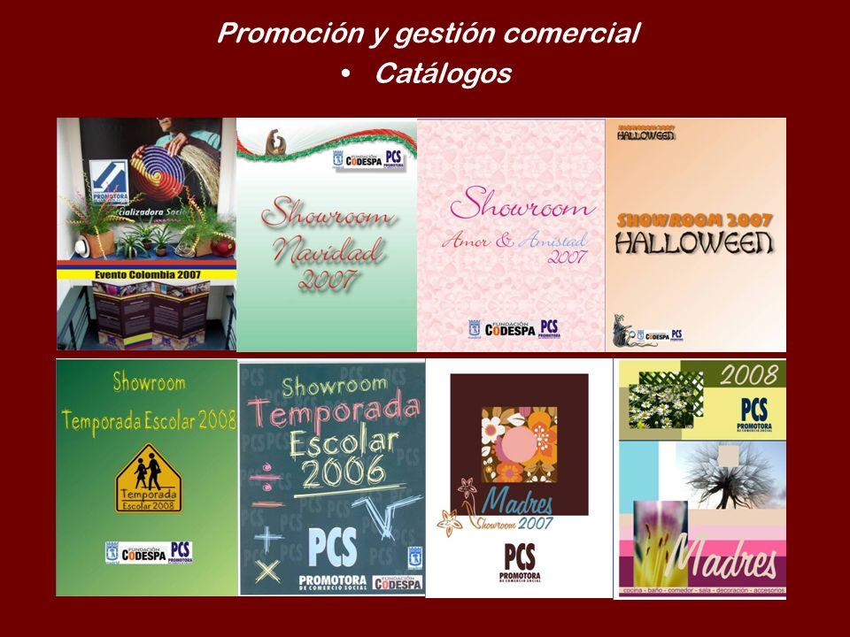 Promoción y gestión comercial Catálogos