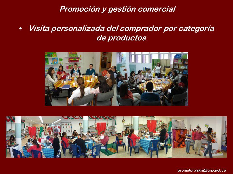 Promoción y gestión comercial Visita personalizada del comprador por categoría de productos promotoraakm@une.net.co