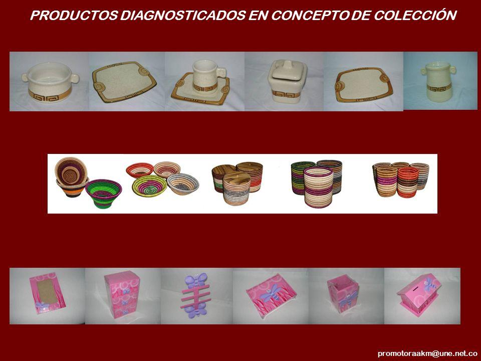 PRODUCTOS DIAGNOSTICADOS EN CONCEPTO DE COLECCIÓN promotoraakm@une.net.co