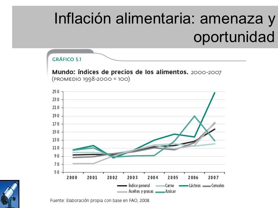 Fuente: Elaboración propia con base en FAO. Inflación alimentaria: amenaza y oportunidad