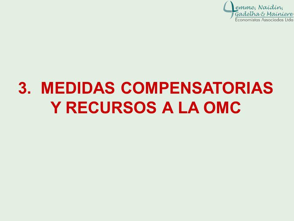3. MEDIDAS COMPENSATORIAS Y RECURSOS A LA OMC