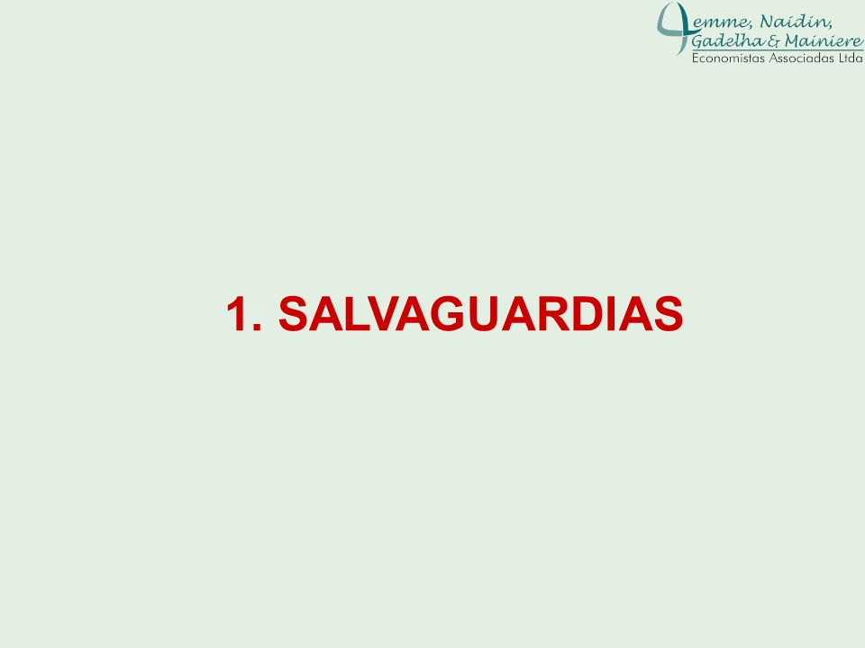 1. SALVAGUARDIAS