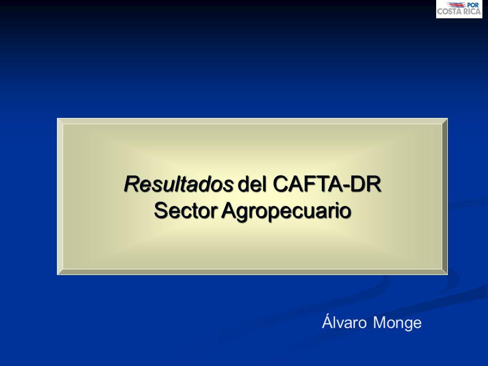 Resultados del CAFTA-DR Sector Agropecuario Álvaro Monge