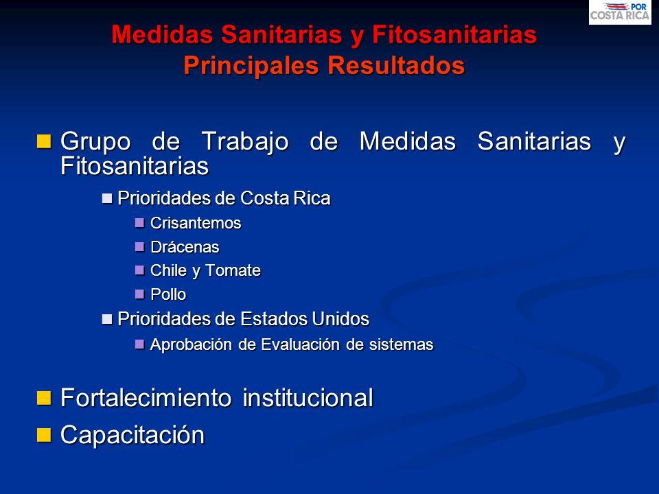 Medidas Sanitarias y Fitosanitarias Principales Resultados Grupo de Trabajo de Medidas Sanitarias y Fitosanitarias Grupo de Trabajo de Medidas Sanitar