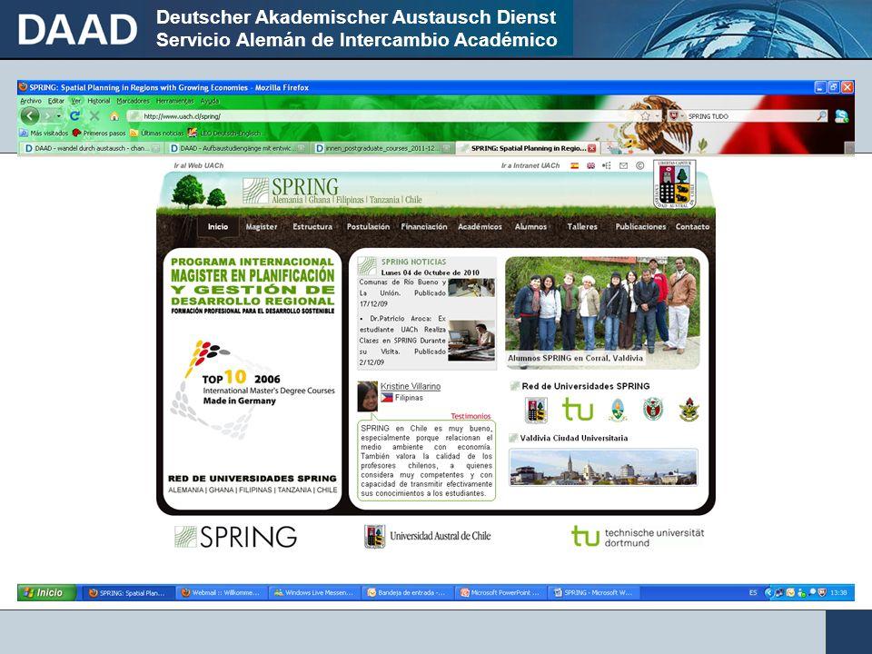 Deutscher Akademischer Austausch Dienst Servicio Alemán de Intercambio Académico ¿Nuevas carreras cruzando las fronteras en el Top Down Approach.