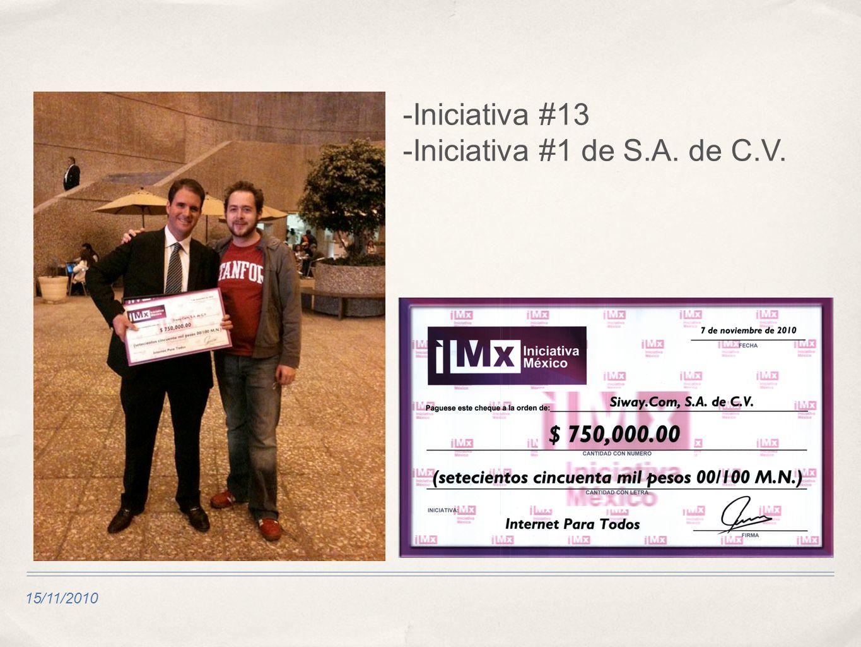 -Iniciativa #13 -Iniciativa #1 de S.A. de C.V.