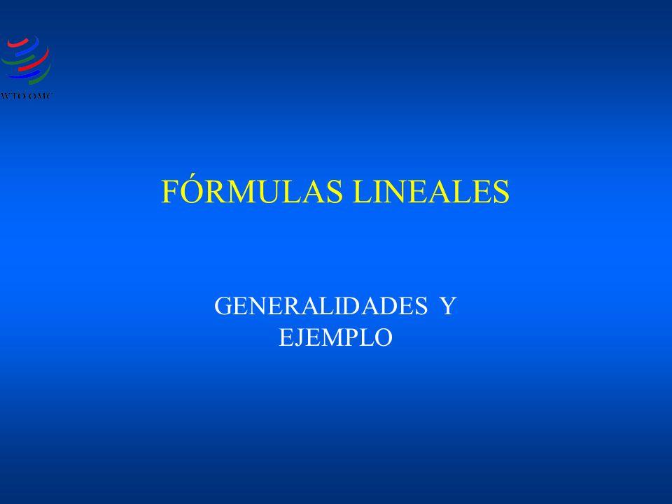 FÓRMULAS LINEALES GENERALIDADES Y EJEMPLO