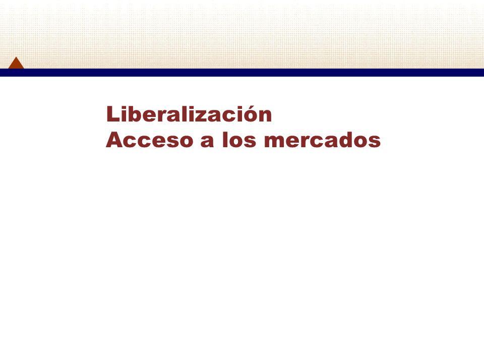 Liberalización Acceso a los mercados