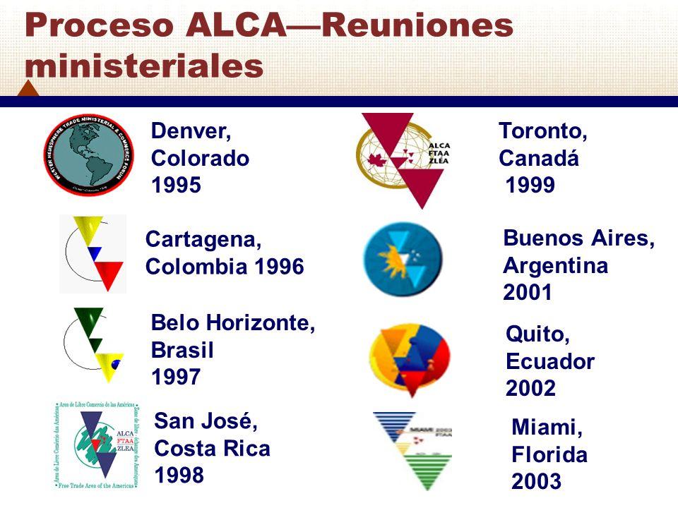 Denver, Colorado 1995 Cartagena, Colombia 1996 Belo Horizonte, Brasil 1997 San José, Costa Rica 1998 Toronto, Canadá 1999 Buenos Aires, Argentina 2001