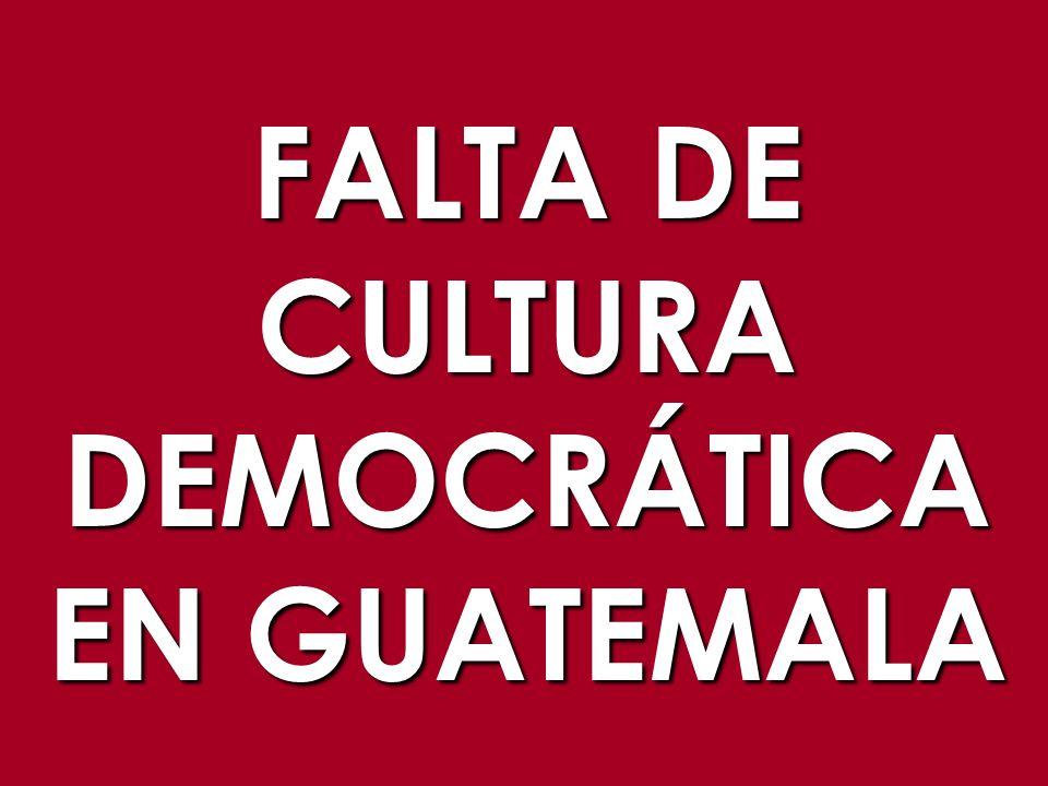 FALTA DE CULTURADEMOCRÁTICA EN GUATEMALA