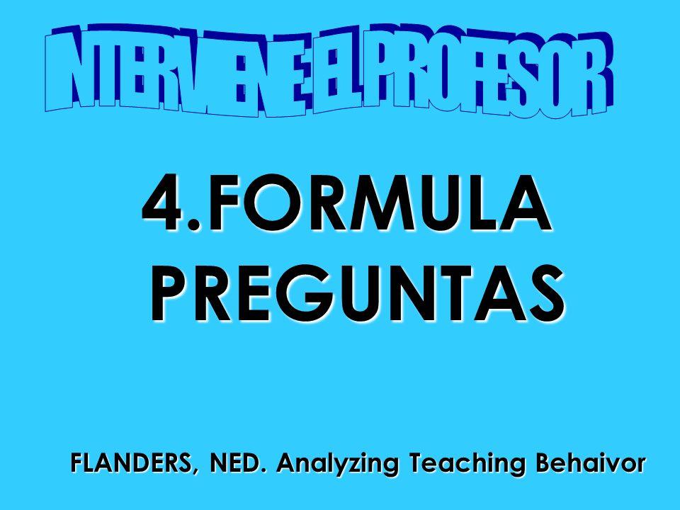 4.FORMULAPREGUNTAS FLANDERS, NED. Analyzing Teaching Behaivor