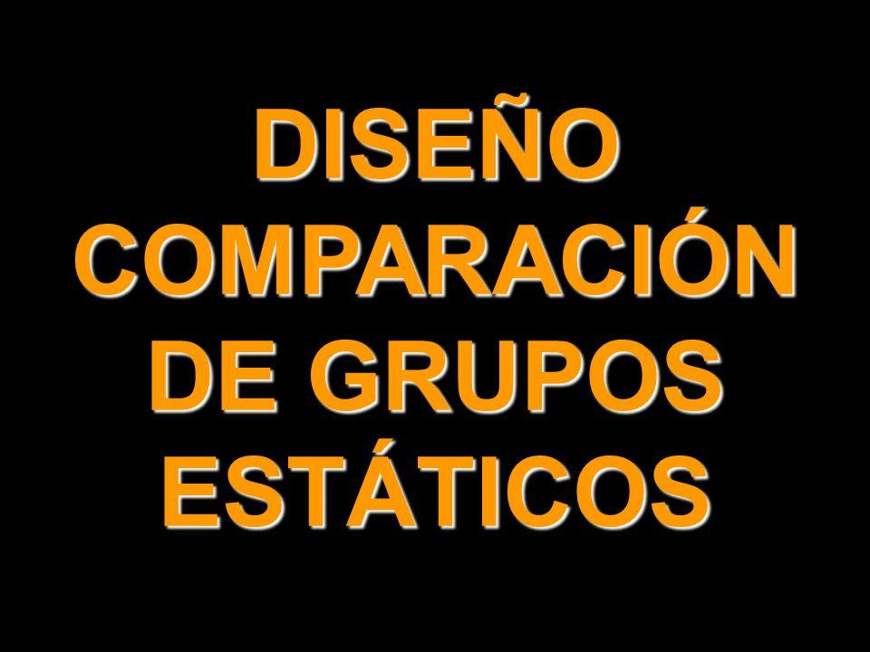 DISEÑO COMPARACIÓN DE GRUPOS ESTÁTICOS