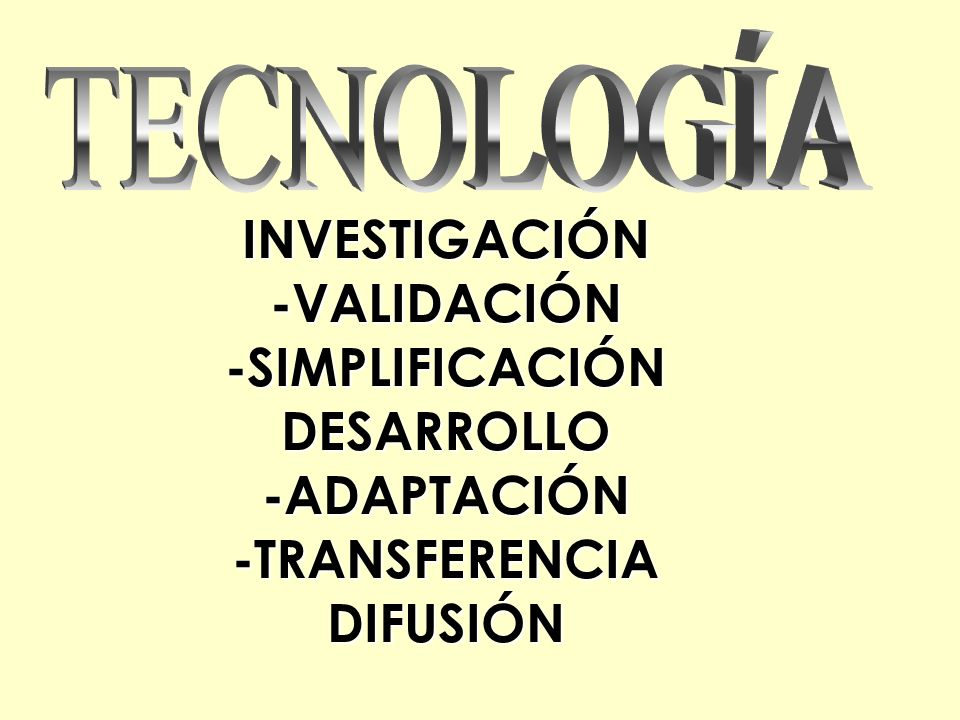 INVESTIGACIÓN-VALIDACIÓN-SIMPLIFICACIÓNDESARROLLO-ADAPTACIÓN-TRANSFERENCIADIFUSIÓN