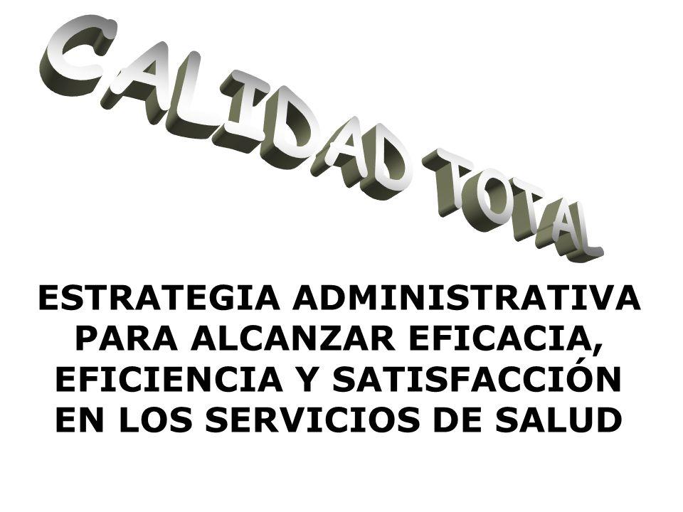 ESTRATEGIA ADMINISTRATIVA PARA ALCANZAR EFICACIA, EFICIENCIA Y SATISFACCIÓN EN LOS SERVICIOS DE SALUD