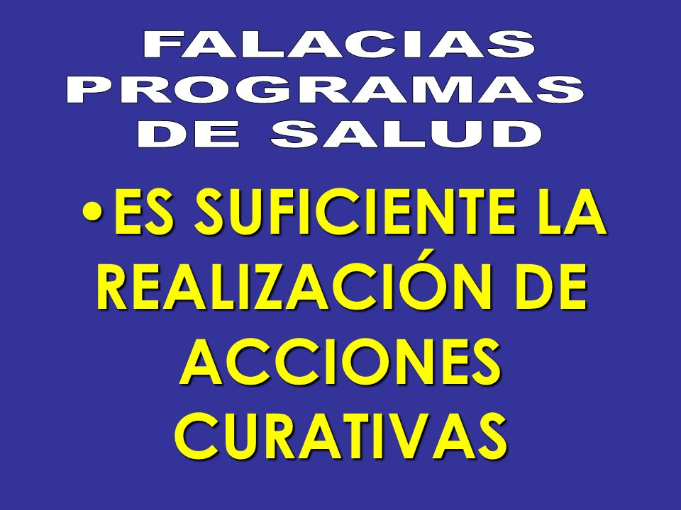 ES SUFICIENTE LA ES SUFICIENTE LA REALIZACIÓN DE ACCIONES CURATIVAS