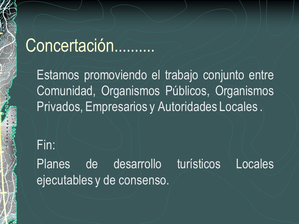 Promoción................. Material Publicitario y participación en eventos de difusión turística., colaborando en la consolidación de nuevos destinos
