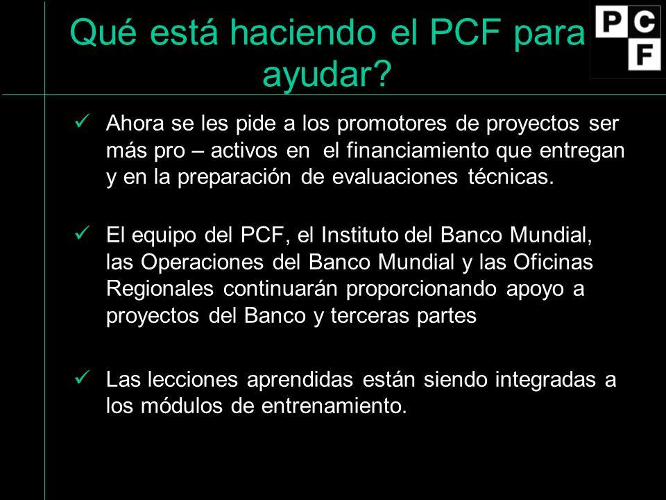 Qué está haciendo el PCF para ayudar.