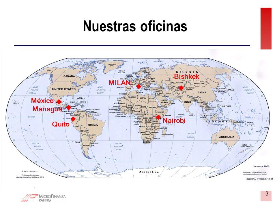 3 Nuestras oficinas Managua Quito MILAN Bishkek Nairobi Managua Quito MILAN Bishkek Nairobi México