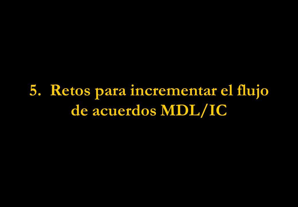 5. Retos para incrementar el flujo de acuerdos MDL/IC