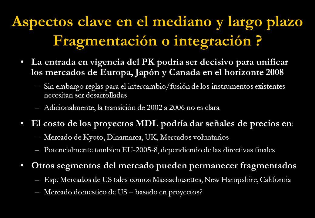 Aspectos clave en el mediano y largo plazo Fragmentación o integración .