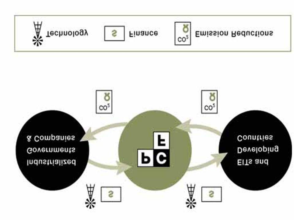 Efectos de Demostración Principales … que un inversión en las armazones de MDL/ JI puede: Ganar ingresos de exportación para los países en desarrollo / con economías en tránsito que participan en ese nuevo comercio de reducciones de emisiones Aumentar la rentabilidad de tecnologías más eficaces y limpias en los sectores de energía, industriales y del transporte Contribuir al desarrollo sostenible … y como el sector privado y el Estado puedan establecer proyectos de MDL/AC y hacerse concurrenciados en el mercado emergente del carbono