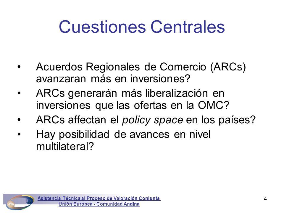 Asistencia Técnica al Proceso de Valoración Conjunta Unión Europea - Comunidad Andina Marconini4 Acuerdos Regionales de Comercio (ARCs) avanzaran más