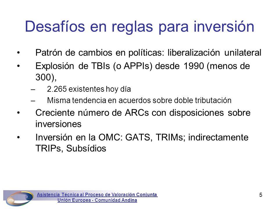 Asistencia Técnica al Proceso de Valoración Conjunta Unión Europea - Comunidad Andina Marconini5 Patrón de cambios en políticas: liberalización unilat