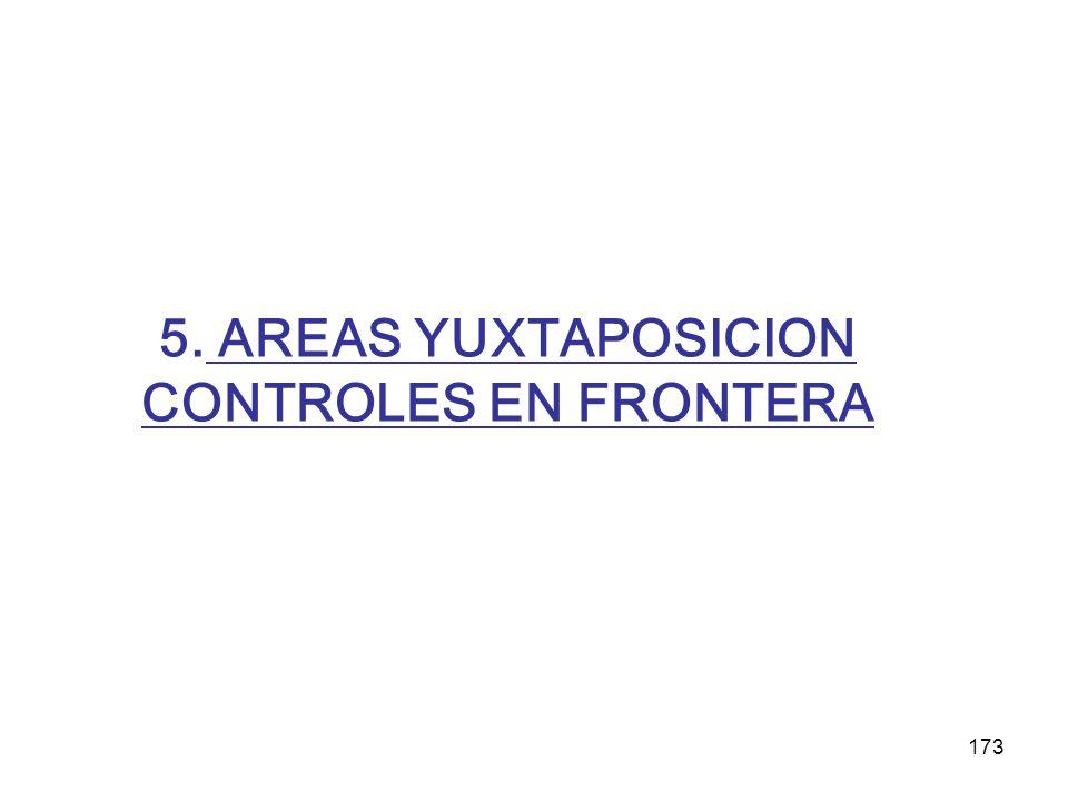 173 5. AREAS YUXTAPOSICION CONTROLES EN FRONTERA