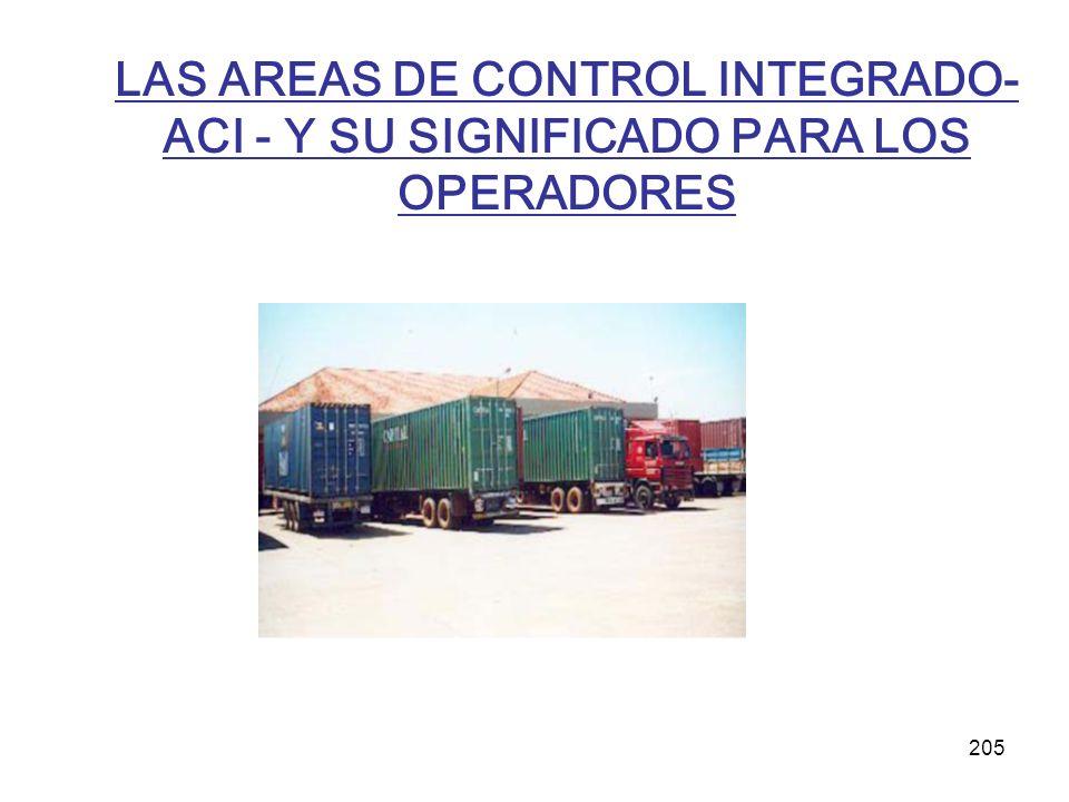 205 LAS AREAS DE CONTROL INTEGRADO- ACI - Y SU SIGNIFICADO PARA LOS OPERADORES