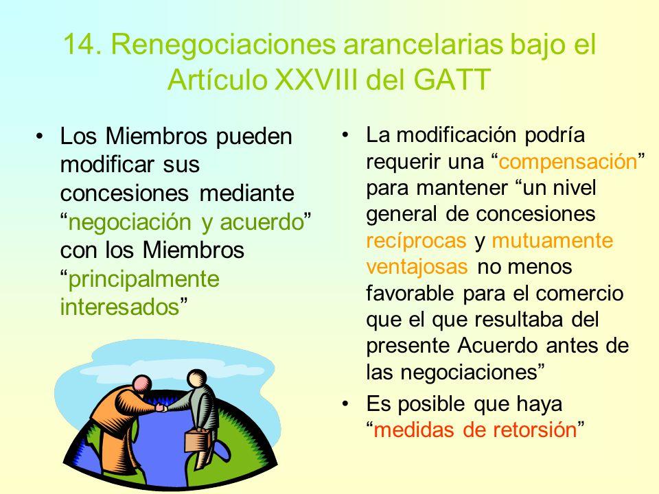 13. Rectificación y modificación Decisión de 1980, Procedimientos para la Modificación y Rectificación de Concesiones Arancelarias (GATT doc. L/4962)D