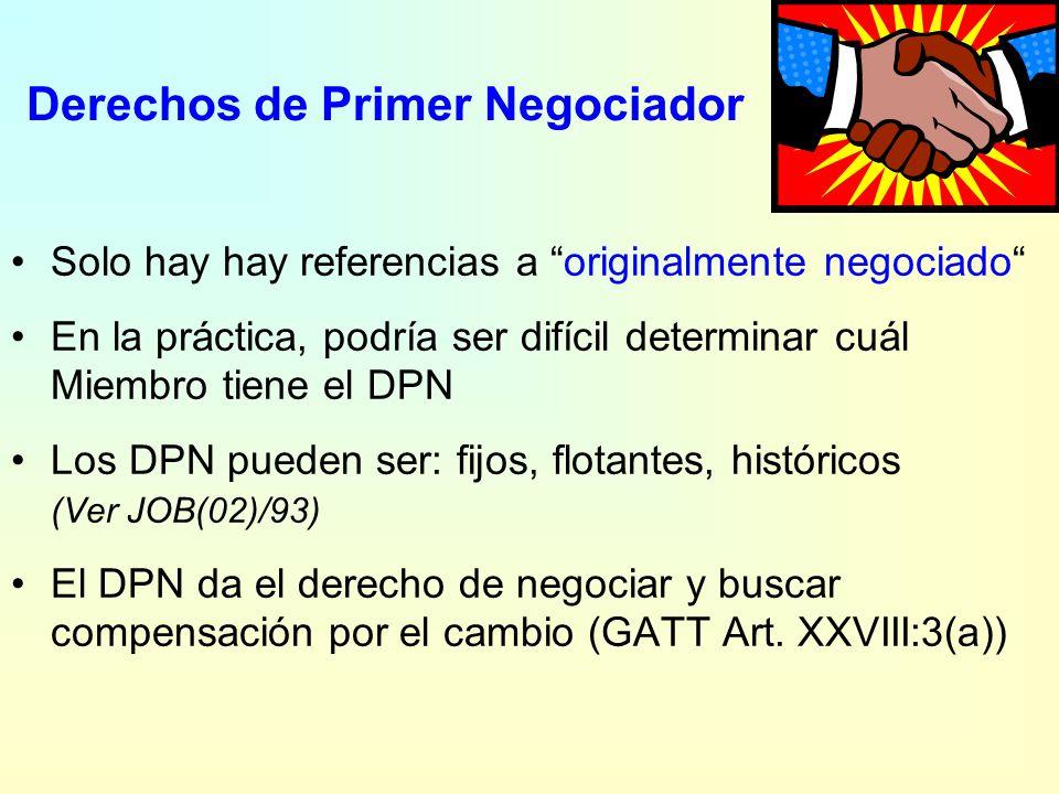 15. ¿Miembros principalmente interesados? Se debe negociar con cualquier otro Miembro: 1.con el cual la concesión haya sido negociada originalmente (D