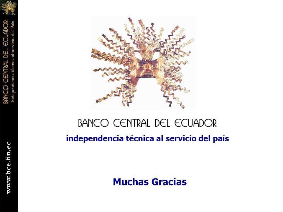 independencia técnica al servicio del país Muchas Gracias