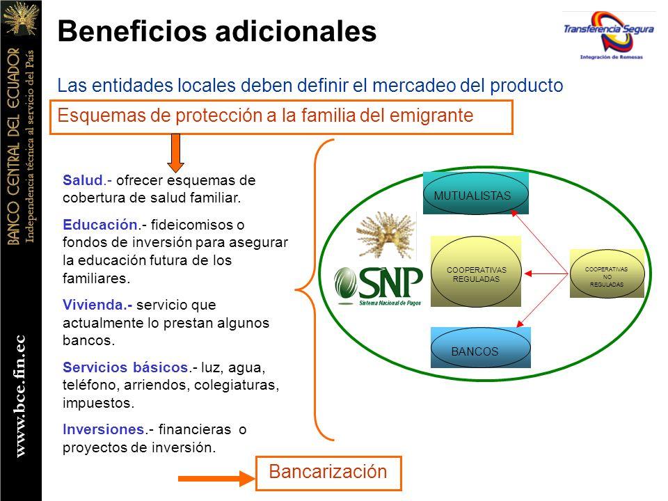 DIFUSION INTEGRACION REMESAS ECUADOR - ESPAÑA BENEFICIO PARA EL REMITENTE: Cliente CAIXA para el envío de fondos dispone: 5.100 sucursales en toda España.