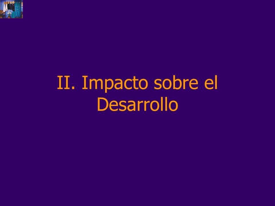 II. Impacto sobre el Desarrollo