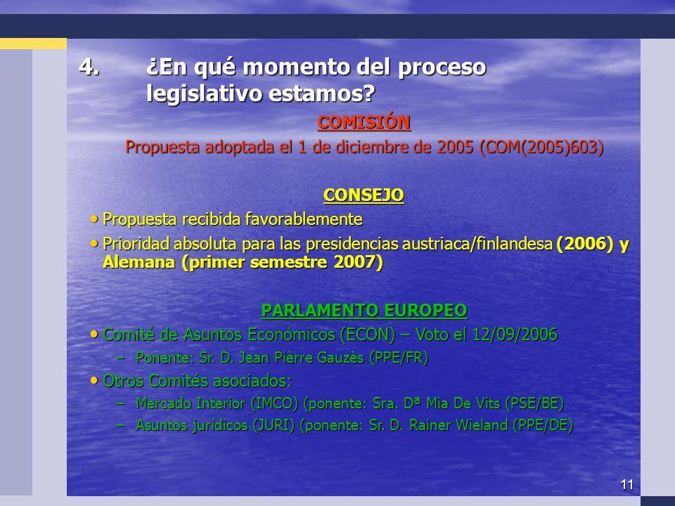11 4.¿En qué momento del proceso legislativo estamos.
