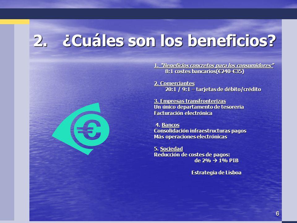 6 2.¿Cuáles son los beneficios. 1.