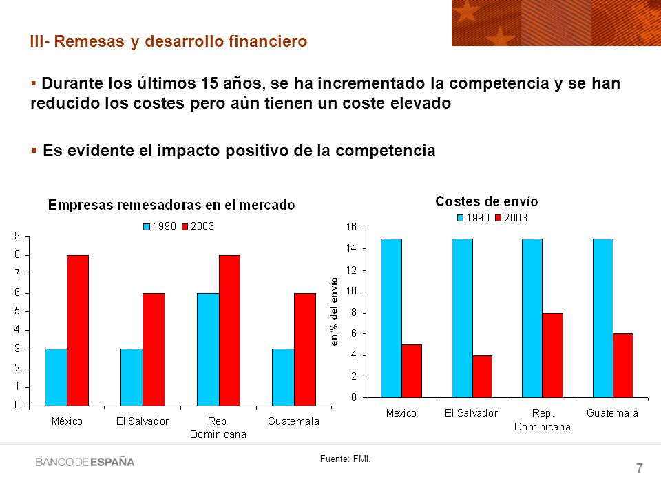 8 III-Remesas y desarrollo financiero Remesas como catalizador del desarrollo financiero Desarrollo financiero como determinante del crecimiento.